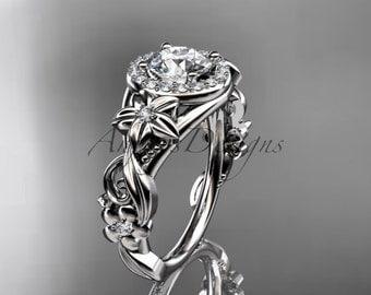 Platinum diamond unique engagement ring,wedding ring ADLR300