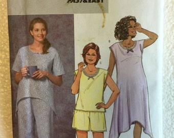 Butterick Misses Pajamas Top Gown Shorts and Pants Sewing Pattern B4407 UC Uncut FF Size 18 20 22 24 w