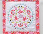 Birds and the Bees applique mini quilt pattern
