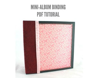 Scrapbook Mini-Album Binding PDF Tutorial