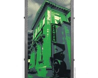 Alewife Restaurant Framed Silkscreen Print, Baltimore, MD