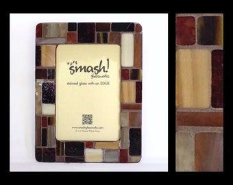 Pastiche: Mocha - 4x6 Stained Glass Mosaic Picture Frame