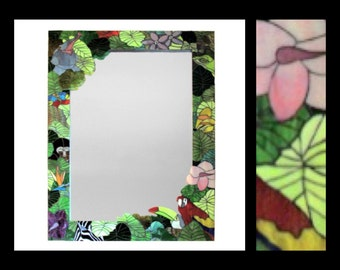 The Mighty Jungle - Stained Glass Mosaic Mirror