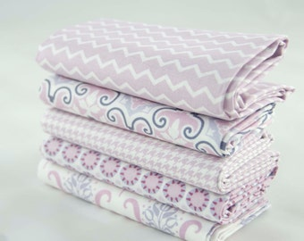 Fabric Fat Quarters Lilac Ring a Roses Notting Hill Selection Gutermann Pack 5 Fat Quarters - UK Shop - Craft Supplies