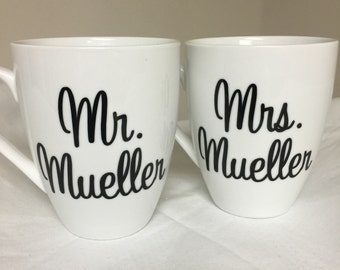 Mr and Mrs coffee mugs
