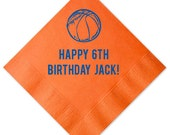 Basketball Personalized Birthday Napkins