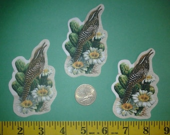 arizona state bird and flower iron ons fabric appliques iron ons