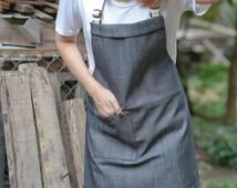 Denim utility apron/Demin sturdy apron/Denim unisex apron/sturdy & skinny apron/chef apron/cafe apron/custom made apron/simply apron/Denim