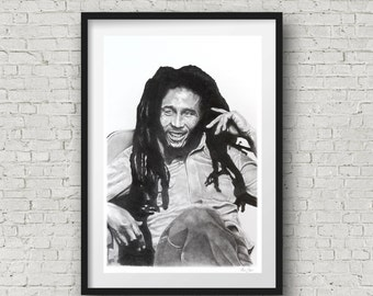 Bob Marley Decor, Bob Marley poster print limited edition