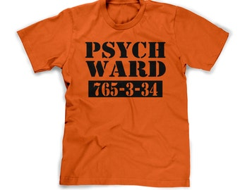 kids psych ward t-shirt funny prisoner tee prison issue jumpsuit orange prison shirt property of youth inmate shirt tee small medium large
