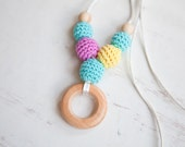 SALE - READY to SHIP - Petite juniper ring nursing pendant -  Sling Accessory - breastfeeding necklace - nursing necklace -  babywearing