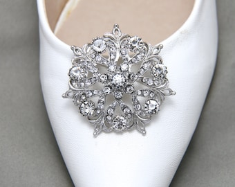 A Pair Of Round Shoes Clip,Crystal Rhinestone Shoes Clip,Wedding Bridal Shoes Clips,Wedding Shoes Decoration,Vintage Inspired Shoes Clips
