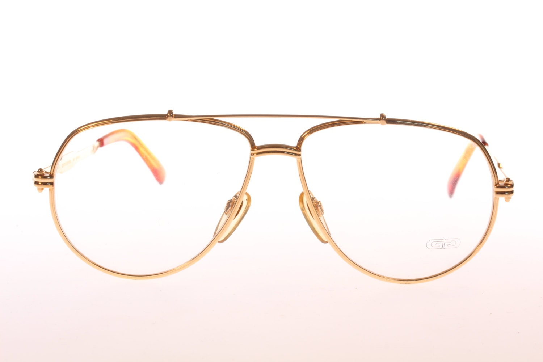 Gold Plated Glasses Frames : Gerald Genta Gold Plated vintage eyeglasses Haute Juice