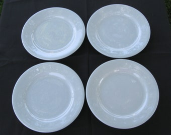 """Buffalo China Restaurant Hotel Diner Blue Lune 6 5/8"""" Plates (Set of Four) in Excellent Condition"""