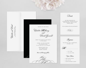 Wedding Invitation Modern Sample - Charlotte  - Wedding Invitation, Modern Wedding Invitation, Modern Wedding Invitations