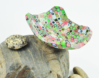 Bowl, Klimt inspired, Geometric Polymer Clay