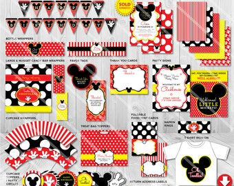 Mickey mouse party decorations Etsy