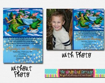 Disney Peter Pan Invitation, Disney Peter Pan birthday invite, Disney Peter Pan party birthday invitation