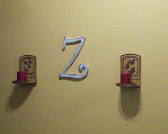 Hanging Wood Letter Distressed 12 inch Shabby Wall Decor