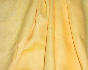 "Bright sunshine yellow linen - 2 yds. 25"" x 58"""