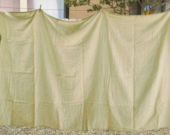 Light Yellow Green Tablecloth Table Cloth 100 x 58 Vintage