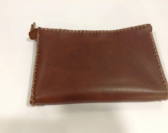 Leather Make Up Pouch,Women Small Leather Purse