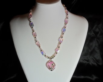 Pink Dragonfly Necklace