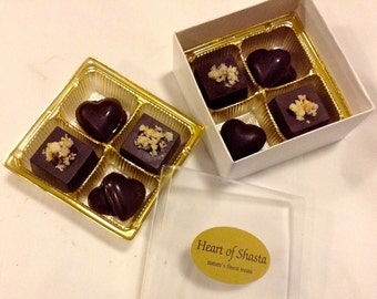 8 pc Wine Country Collection NUT Assortment Organic Raw Chocolates 4.7oz NO Dairy