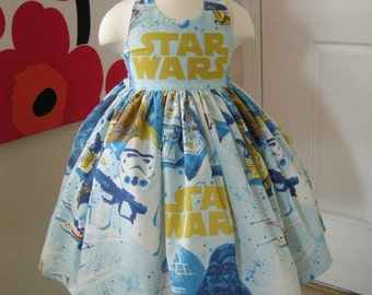 Custom Made to Order Star Wars party dress Sz12m to 6T