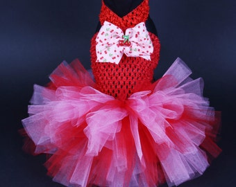 SUMMER:  Cherries Dog Tutu Dress