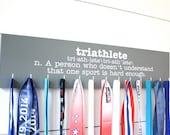 Triathlon Medal Holder - Definition of Triathlete - Large