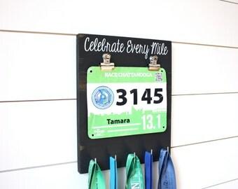 Running Race Bib & Medal Display - Celebrate Every Mile