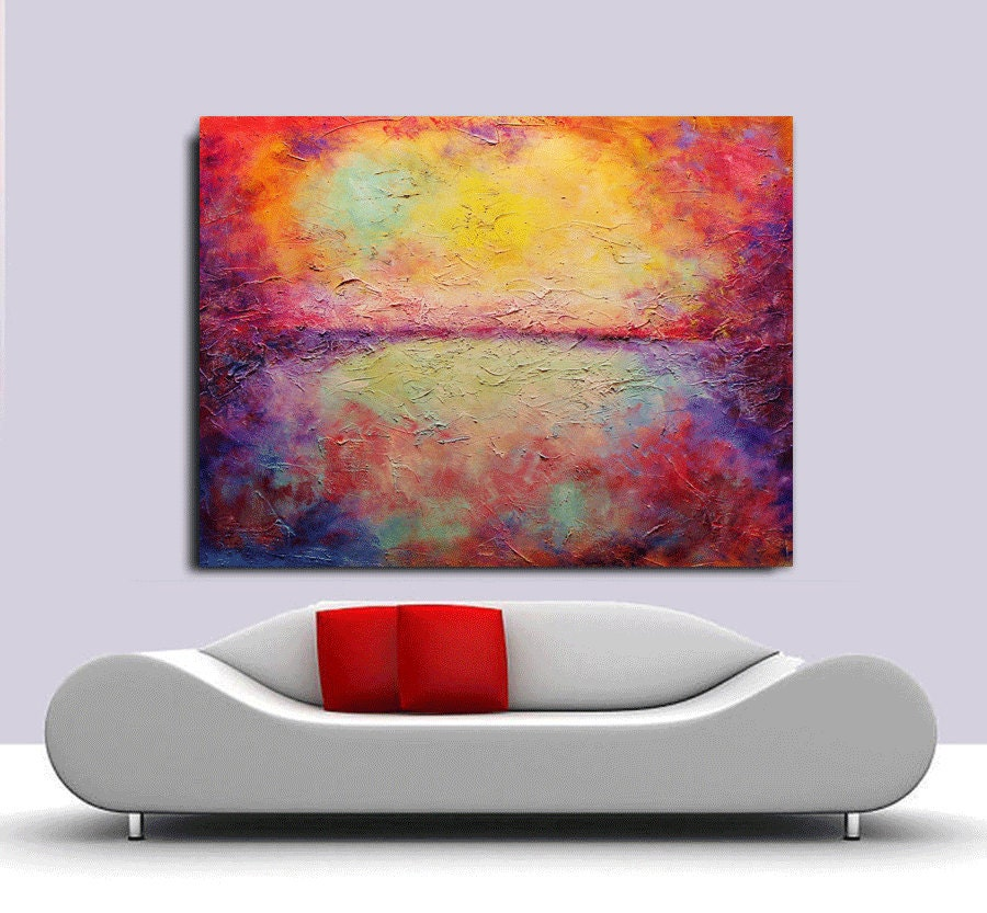 Acrylic painting on canvas palette knife contemporary for Palette knife painting acrylic
