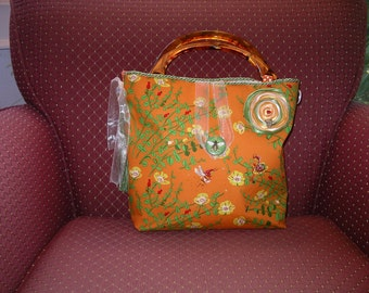 Fabric Summertime Bees Handbag