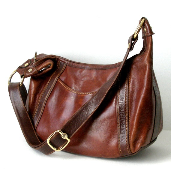 lg sz vintage marino orlandi leather purse handbag made in