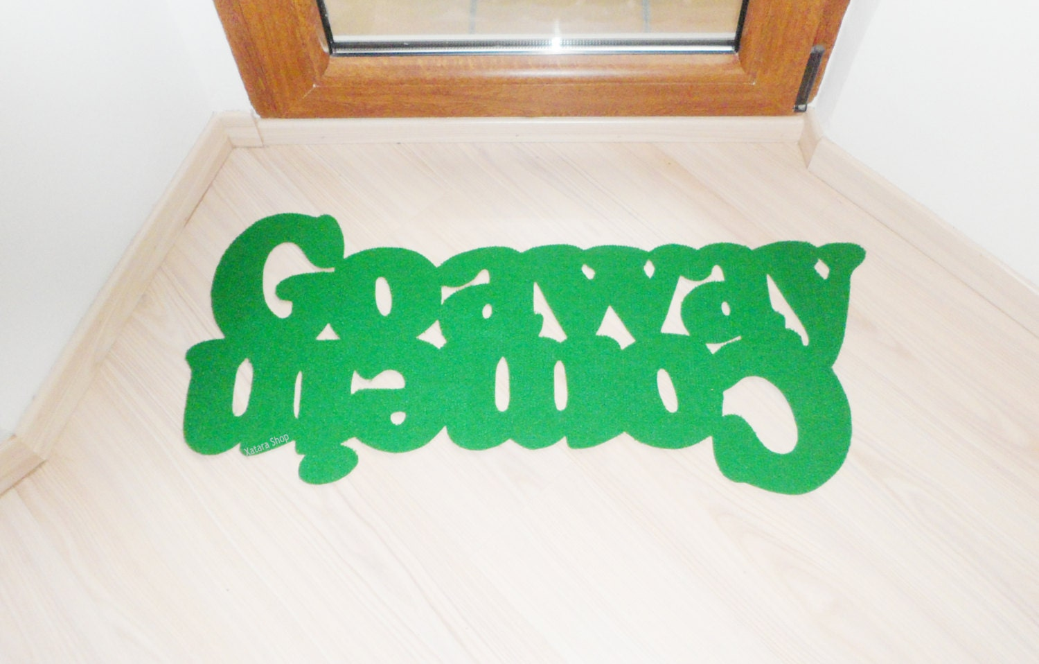 Double Message Floor Mat Come In Go Away