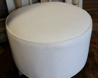 Linen Ottoman / Footstool / Seating Upholstered Furniture