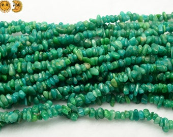 35 inch strand of Russian Amazonite rounded chips beads 5-8mm