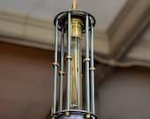 Capsule Pendant Light - Edison Tube Light - Steampunk - Hanging Light - Pendant Light - Bar Light - Mancave