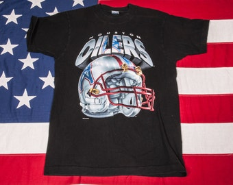 Houston OILERS Football T-Shirt Size M