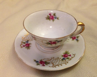 Cup and Saucer, Demitasse, Made in Occupied Japan.