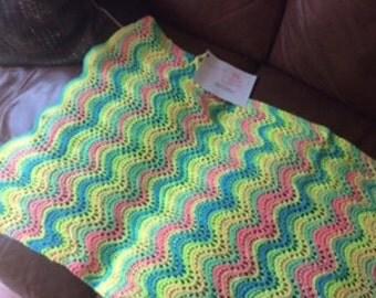 Chevron   Blanket Knit pattern , Chevron Knit Pattern , Baby Afgahn pattern, Girl Afgan blanket, Easy blanket pattern,Baby afgan pattern