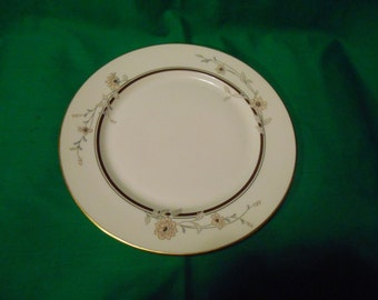 "One (1), 10 3/4"" Porcelain Dinner Plate, from Gorham, in the Chatham Pattern."