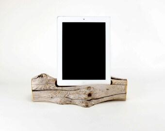 Docking Station, Driftwood iPad dock, iPad Charger, iPad Charging Station, driftwood ipad dock, wood ipad dock/ Driftwood- No. 735