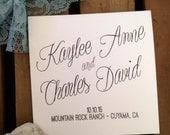 RUSTIC Wedding Mini Square Program - Ceremony - Modern - Vintage - Eco - Sample - Printed - DIGITAL - DIY Printable File