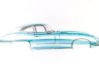 E Type Jaguar Print