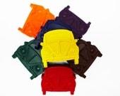 Retro bug car crayons, set of 8