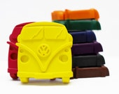 Camper van crayons, set of 8, car crayons, stocking filler, party favour