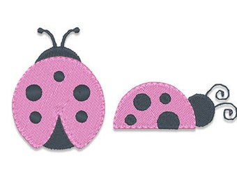 Mini Lady Bugs Embroidery Design- Instant Download