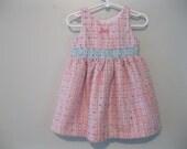 Vintage baby girl dress, vintage 1960s tweed dress, childs tweed dress, girly dress, fancy dress, special dress, size 18 months